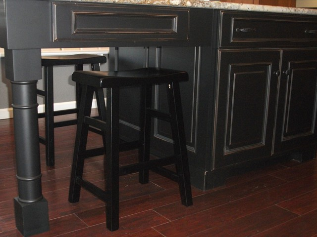 AD Cabinetry -  Kitchen - Black Island Cabinets